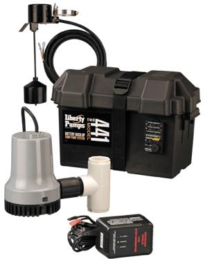 model 441 battery backup emergency sump pump system - Watchdog Sump Pump